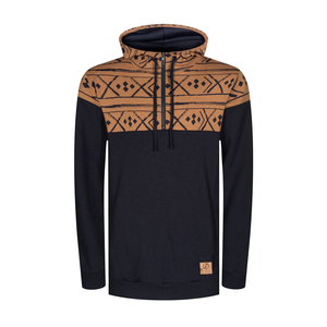 Norwegian Half-Zip Kapuzenpullover Navy - bleed