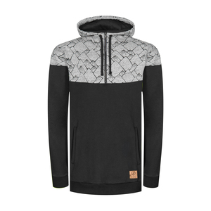 Mountain Half-Zip Kapuzenpullover Schwarz - bleed