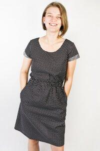 Bio Kleid 'Somrig' Punkte schwarz - Frija Omina