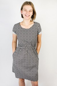 Bio Kleid 'Somrig' kringli schwarz - Frija Omina