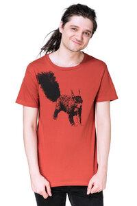 """Bio- & Fair-Trade-Männershirt """"Eichhörnchen"""" rostrot - Hirschkind"""