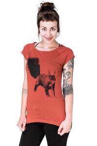 """Bio-& Fair-Trade-Frauenshirt """"Eichhörnchen"""" rostot - Hirschkind"""