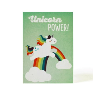Postkarte Unicorn Power - käselotti