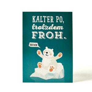 Postkarte Kalter Po - käselotti