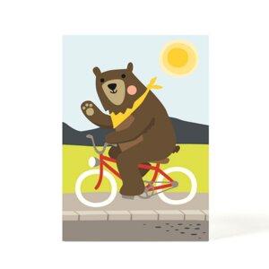 Postkarte Bear on Bike - käselotti