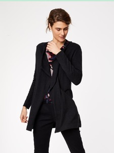 Strickjacke - KATHLEEN LONGLINE CARDIGAN - Schwarz - Thought | Braintree