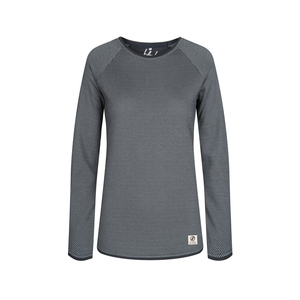 Honeycombed Sweater Damen Grau - bleed