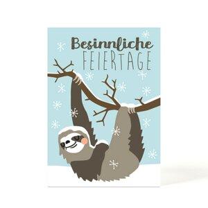 Weihnachtskarte Faultier - käselotti