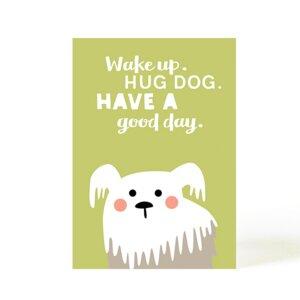 Postkarte Hug Dog - käselotti