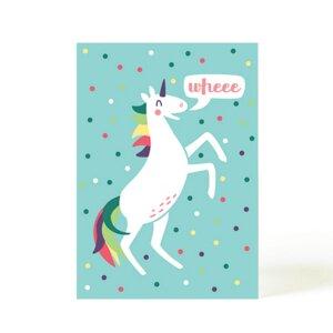 Postkarte Konfetti Einhorn - käselotti