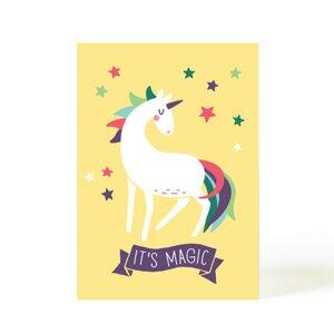 Postkarte Magic Einhorn - käselotti