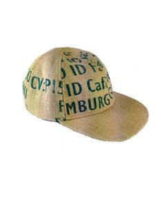 "Cap Hut ""Black Coffee"" beige/ schwarz/ petrol, S-M - ReHats Berlin"