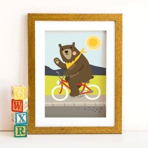 Din A4 Poster Fahrrad-Bär - käselotti
