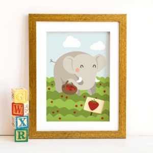 Din A4 Poster Elefant - käselotti