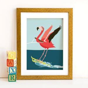 Din A4 Poster Flamingo - käselotti