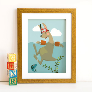 Din A4 Poster Känguruh - käselotti
