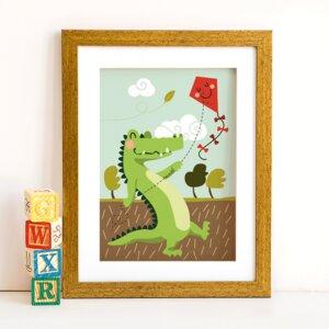 Din A4 Poster Krokodil - käselotti
