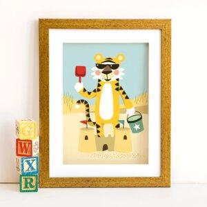 Din A4 Poster Tiger - käselotti