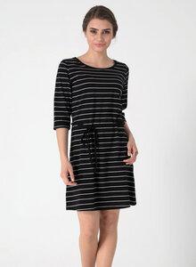 Gestreiftes Jerseykleid aus Bio Baumwolle mit halblangen Ärmeln - ORGANICATION