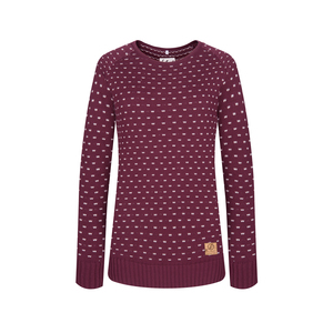 Summit Pullover Damen Aubergine - bleed
