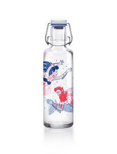soulbottle 0,6l • Glastrinkflasche • 100% plastikfrei • 'Meermenschen' - soulbottles