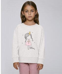 Sweatshirt mit Motiv / all girls are princesses - Kultgut