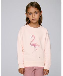 Sweatshirt mit Motiv / Flamingo - Kultgut