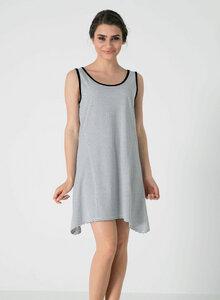 Ärmelloses Gestreiftes Jersey-Kleid aus Bio Baumwolle - ORGANICATION
