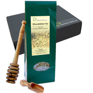 'Tea-Time', Honiglöffel, Tee, Schippchen /Geschenkverpackung - Olivenholz erleben