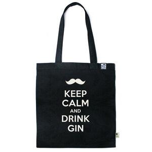 Baumwolltasche Keep calm and drink Gin - Gary Mash