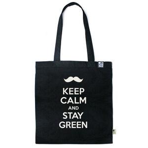 Baumwolltasche Keep calm and stay green - Gary Mash