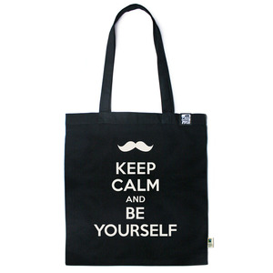 Baumwolltasche Keep calm and be yourself - Gary Mash