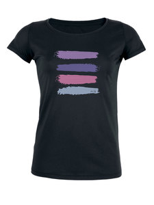 """Damen Bio T-Shirt """"Desires - Stripes"""" in weiss und schwarz - Human Family"""