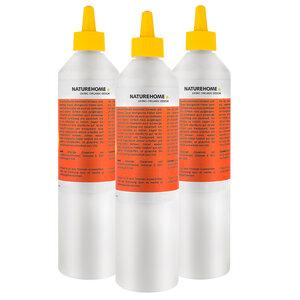 3x 500ml NATUREHOME Öko Allzweck- und Haftkleber MÜRITZ Refill Flasche - NATUREHOME
