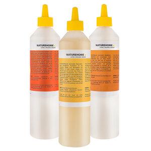 3er Set aus Öko Papier-, Bastel-, Allzweckleim/Haftkleber 500 ml Nachfüllflaschen NATUREHOME - NATUREHOME
