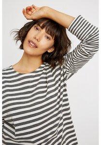 Stripe Pyjama Long Sleeve Top Grey - People Tree