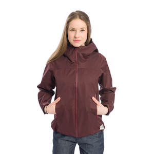SYMPATEX® Rain Shell Jacke Damen Dunkelrot - bleed