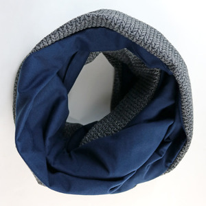 Strick-Jacquard Loop Navy-Anthrazit - Gary Mash