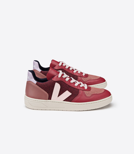 Damen Sneaker - V10 Pixel - Multico Burgundy Lilas - Veja
