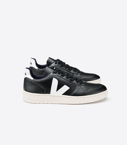 Sneaker Herren - V-10 Leather - Black White - Veja