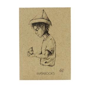 Postkarte Graspapier - 'Fallenbird' - Matabooks