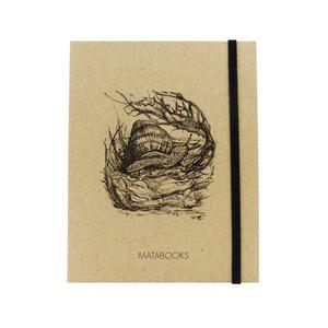 Notizbuch Graspapier 'Schnecke' (black/carton) - Swiss Brochure - Matabooks