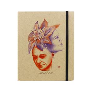 Notizbuch Graspapier 'Florescence' (black/carton) - Swiss Brochure - Matabooks