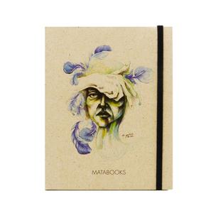 Notizbuch Graspapier 'Blendend' (black/Carton) - Swiss Brochure - Matabooks