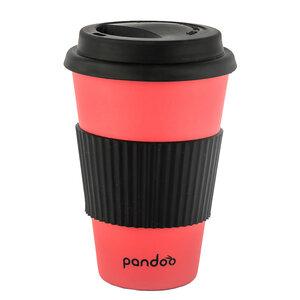 Bambus Kaffeebecher Coffee-To-Go, Trinkbecher, Bamboo Cup (rot)  - pandoo