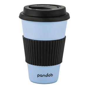 Bambus Kaffeebecher Coffee-To-Go, Trinkbecher, Bamboo Cup (blau)  - pandoo