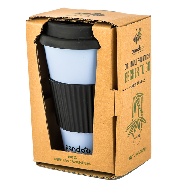 pandoo bambus kaffeebecher coffee to go trinkbecher bamboo cup blau avocadostore. Black Bedroom Furniture Sets. Home Design Ideas