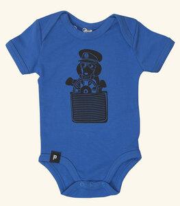 Baby Body - Der Dackelkapitän - Blau - päfjes