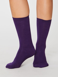 Socken - REPEAT SOLID JACKIE SOCKS - Purple - Thought | Braintree