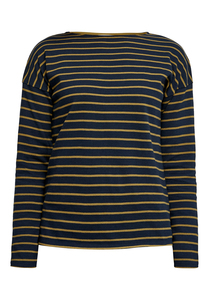 Carol Stripe Top Navy - People Tree